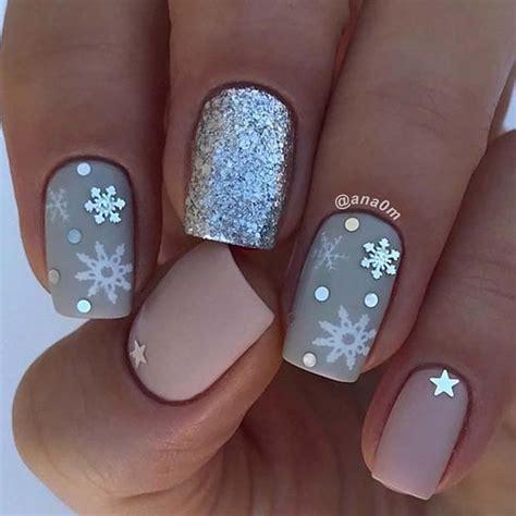 snowflake nail designs  christmas eve