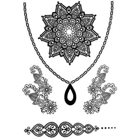 tatouage temporaire et 233 ph 233 m 232 re collier dentelle et fleurs