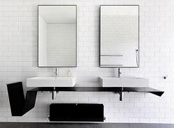 inspirasi desain kamar mandi minimalis  cermin idaman