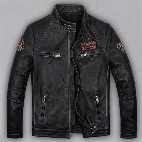 motorcycle style leather jacket find more leather suede information about free shipping