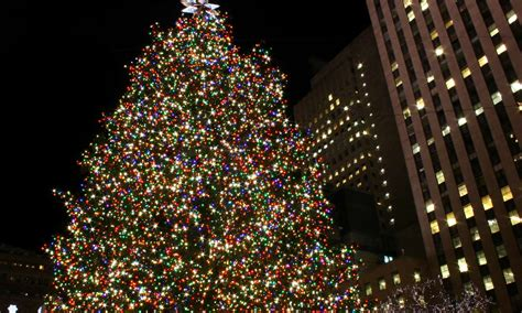 weihnachtlich der weihnachtsbaum am rockefeller center
