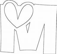 love letter m coloring page love letter m coloring pagefull - Letter M Colouring Pages