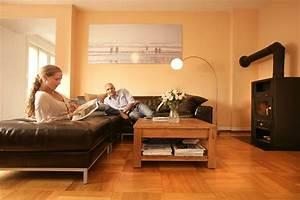 Holzbalken In Neubau Wohnzimmer