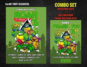 Disney Cars Invitation Ninja Turtles Invitation For Tmnt Birthday Diy Printable