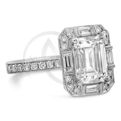 emerald cut antique diamond engagement ring www