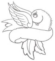 Heart Banner Tattoo Design