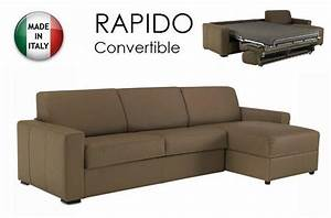 canape d39angle dreamer convertible ouverture rapido 160cm With canapé cuir convertible couchage quotidien