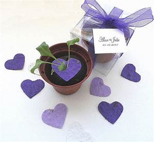 plantable seed paper hearts diy wedding favors place With plantable seed wedding favors