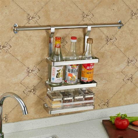 tssaag  layer stainless steel hanging spice rack wall