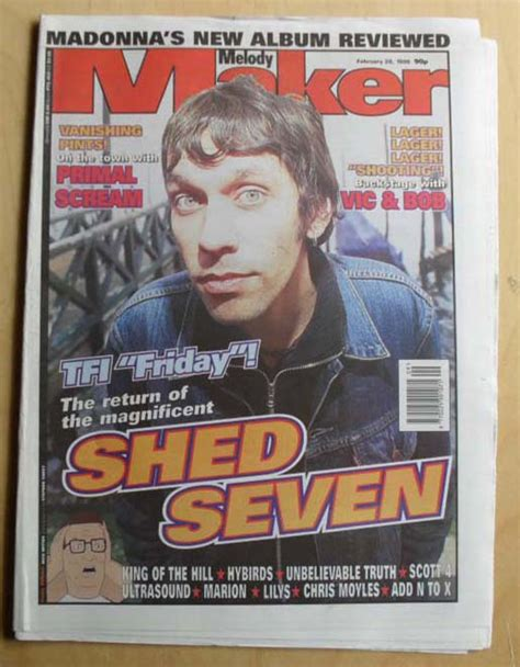 Shed Seven Melody Maker Magazine 28 Feb 1998  Rick Witter