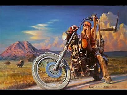 David Harley Mann Motorcycle Davidson Paintings Biker
