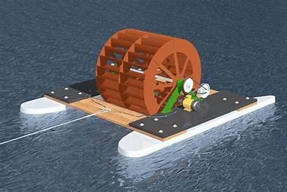 Generator Waterwheel Electrical Water Wheel Flow Floating