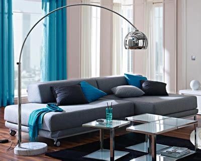 canape turquoise salon moderne 2015 design 7 déco