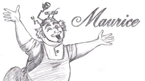 Speed Drawing Maurice From Disney Beauty And The Beast