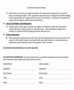 standard non disclosure agreement form 19 examples in With one way nda template