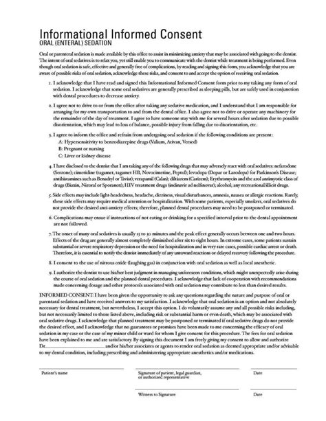 dental informed consent form template sletemplatess sletemplatess