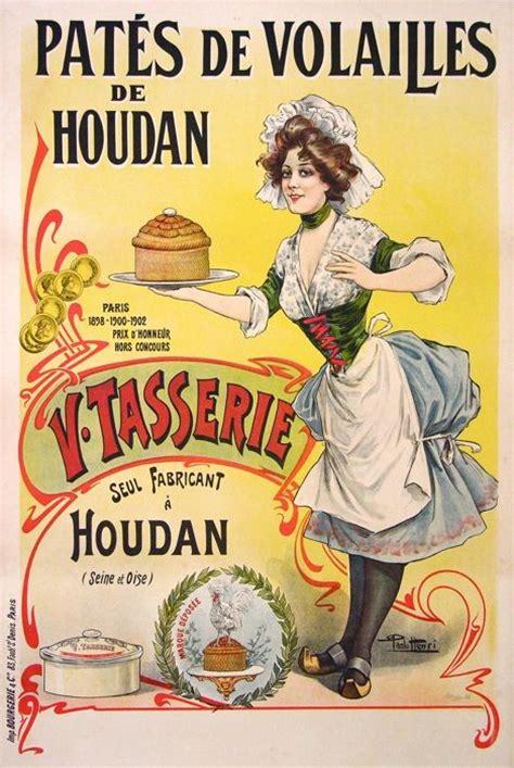 affiche cuisine vintage the pâté of houdan et seq