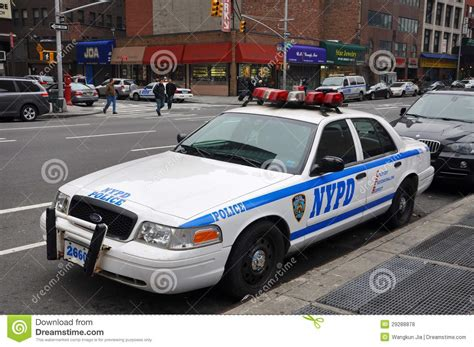 Nypd Ford Crown Victoria Police Car In Nyc Editorial Stock