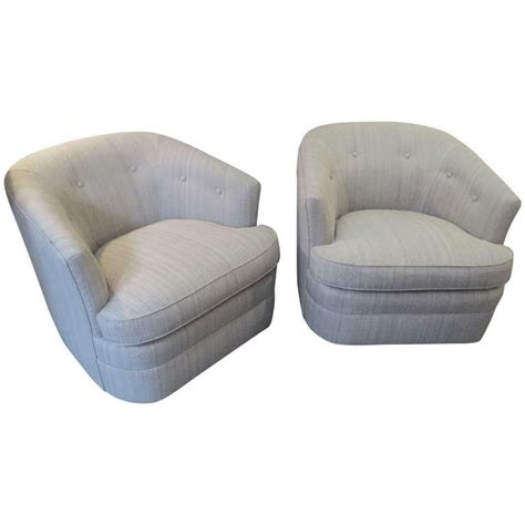 pair swivel barrel chairs at 1stdibs