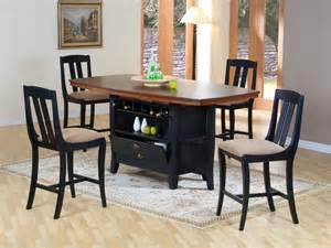 kitchen island dining set traditional wood rectangular dining area furniture collection with - Kitchen Island Dining Set