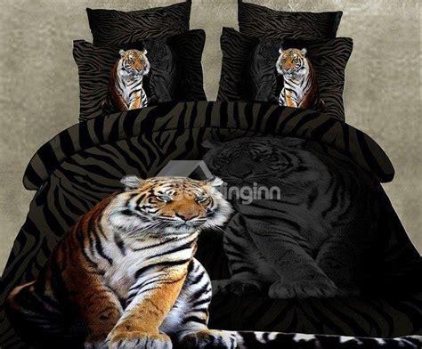 skincare tiger print 4 piece polyester 3d bedding sets