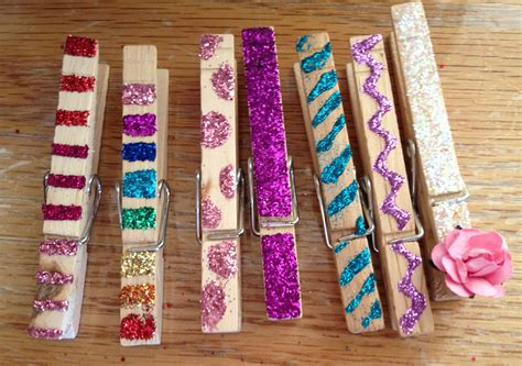 Kids Party Craft: Glittered Clothespin Magnets events to