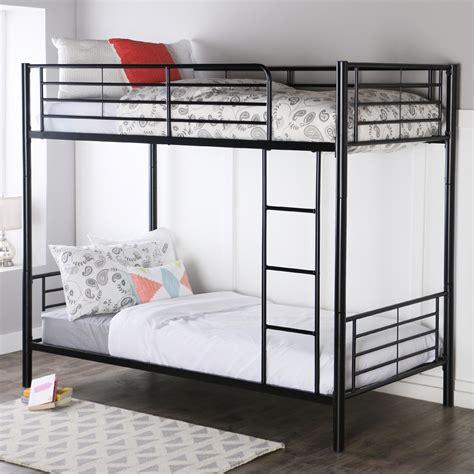 bunk bed amazon com walker edison metal bunk bed
