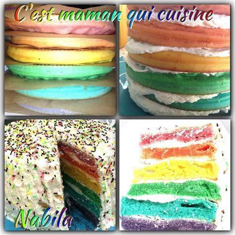 rainbow cake gateau arc en ciel c est maman qui cuisine