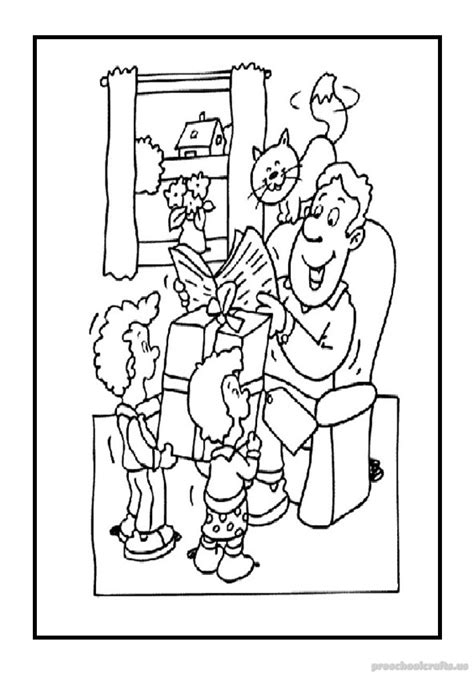 happy fathers day coloring pages  kids preschool