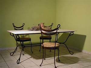 Table En Fer Forg Fanny Fabrication Franaise Villa