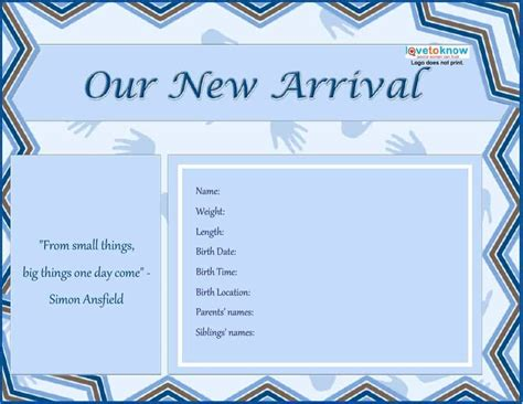 Birth Announcement Template Free by 46 Birth Announcement Templates Cards Ideas Wording