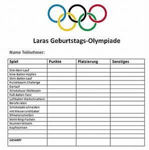 Spiele Zum Kindergeburtstag : olympiade tabelle pinteres ~ Articles-book.com Haus und Dekorationen