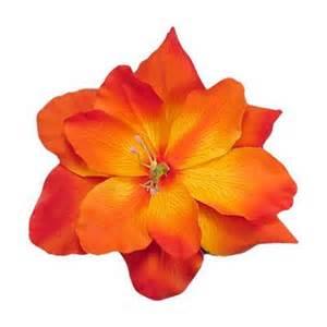 Orange Tropical Flower Clip Art