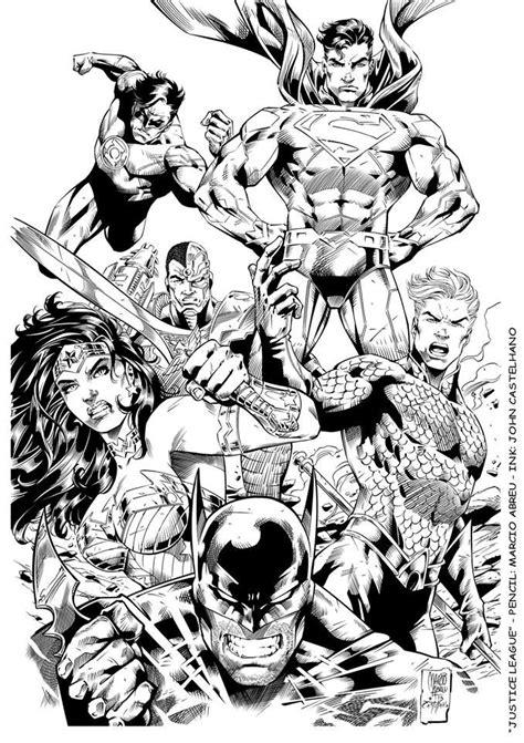 Justice League by line-art by Marcio Abreu, inks by John Castelhano * | * Comics: DC 0 | DC