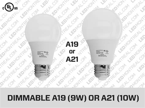 a19 a21 e27 270 176 dimmable led light bulb led montreal