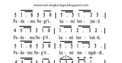 not angka lir ilir not angka lagu bagimu negeri kumpulan not angka lagu