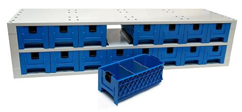 cassettiere in plastica allestimento scudo con cassetti in plastica