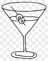Glass Martini Coloring Clip Clipart Line Stained Adult Nightmare Template sketch template