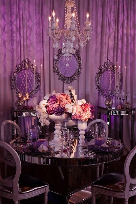 Purple Wedding Table Decor Architecture And Interior Design