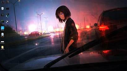 Anime Rain Wallpapers Engine Alone Walking
