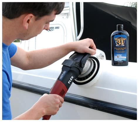 Best Boat Oxidation Cleaner by Marine 31 All In One Gel Coat And Wax All In One