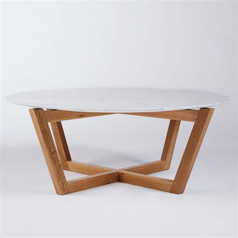 Coffee Table Round Coffee Table White Legs And Wood Top