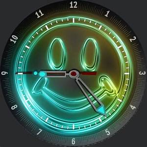 Glow Smiley Face  U2013 Watchfaces For Smart Watches