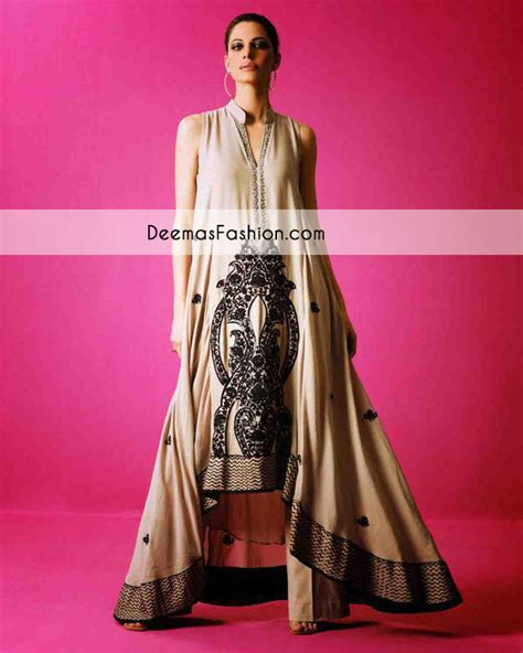 light brown casual wear aline frock latest designer