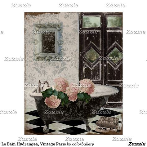 Shop kassatex le bain 12 x 18 fingertip towel online at macys.com. Le Bain Hydrangea, Vintage Paris Poster   Zazzle.com   Shabby chic wall art, French country wall ...