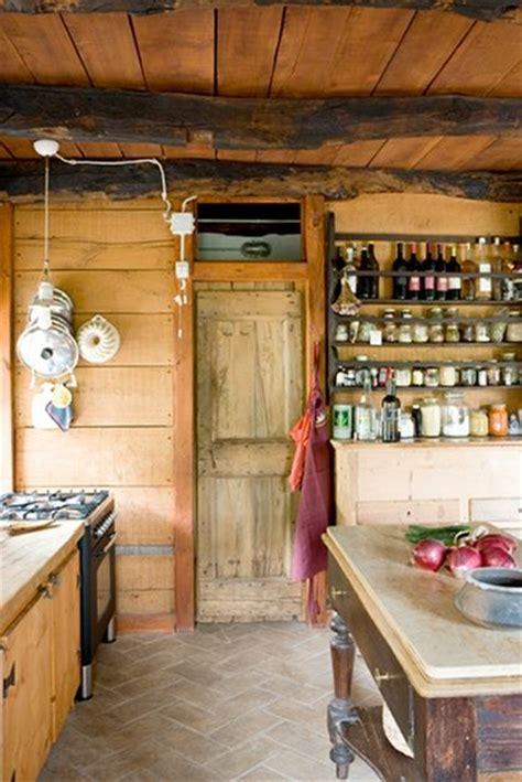 wood panelled kitchen earthy hippie boho hippy