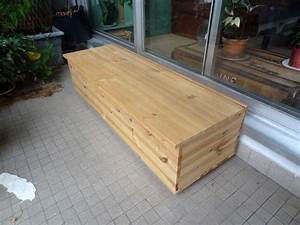 Banquette Coffre Exterieur : fabriquer un banc coffre diy jean pascal m ~ Premium-room.com Idées de Décoration