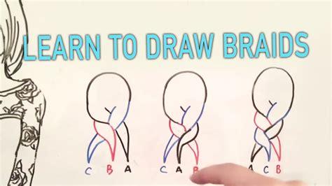 learn  draw braids  easy steps tutorial youtube
