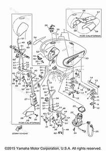 Yamaha Motorcycle 2014 Oem Parts Diagram For Fuel Tank