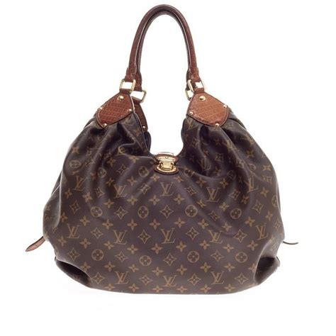 louis vuitton xl hobo monogram canvas  alligator  stdibs